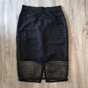 NWOT Ann Taylor black skirt size 8